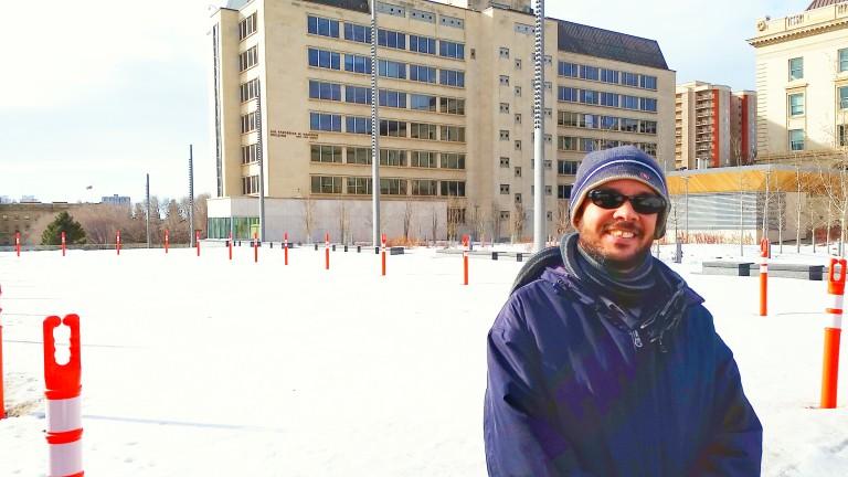 Primeiro passeio e primeiro contato com o clima de Edmonton